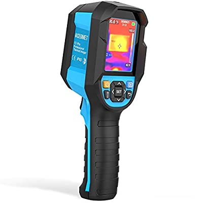 """IR Infrared Thermal Imager, Acegmet 160 x 120 Handheld 19200 Pixels Thermal Imaging Camera with IP65 Waterproof and 2 Meter Drop Durability, 2.8"""" LCD Screen Li-ion Battery Infrared Thermometer"""