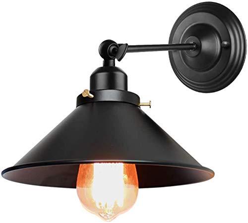 Lámpara de pared Retro Aplique, Luces de pared de la vendimia Sencillez LED de pared interior Sconence 180 ° Ajustable para sala de estar Dormitorio Baño Cuarto de baño Lámpara de cama Lámparas de par