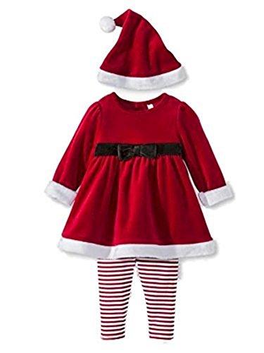 Cherokee Infant Girls Red Santa Suit 3 Piece Set (3-6 Months)