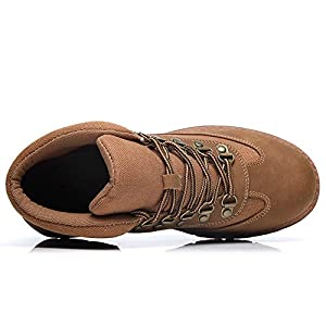 Cestfini Suede Hiking Boots for Women - Ladies Combat Work Ankle Boots, Walking Hiking Shoes FNW08-Brown-9