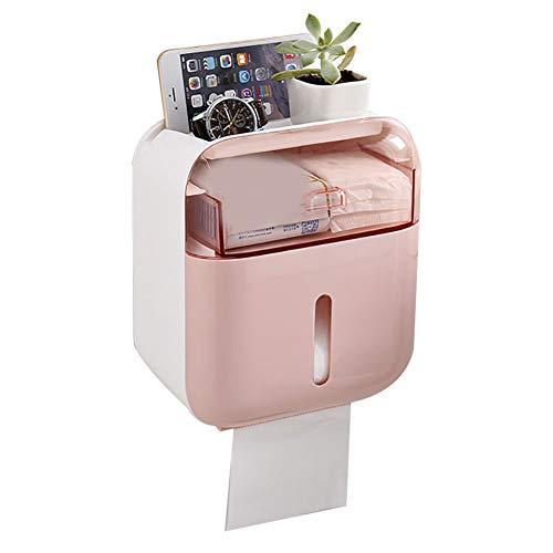 Monterey Toilettenpapierhalter für Badezimmer, Wohnzimmer, Schlafzimmer, wasserdicht, stanzfrei, Schwarz, rose, Einheitsgröße