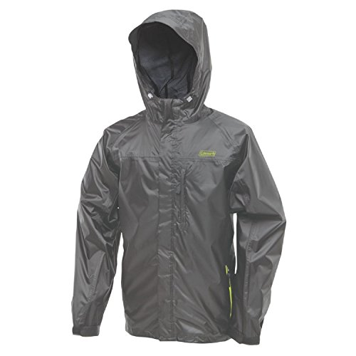 Coleman Company Rainwear Danum Jacket, Grey/Lime, Large