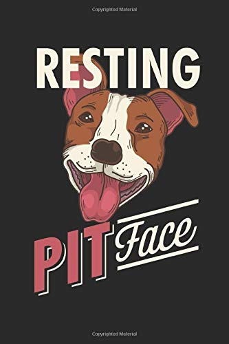 Resting Pit Face: Pitbull Notebook Journal and Diary 110 Linked Blanked Pages