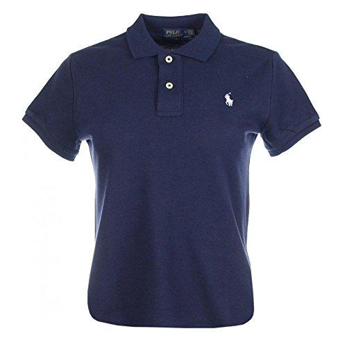 Ralph Lauren Damen Kurzarm Polo Shirt Mesh Fit (Navy, XL)