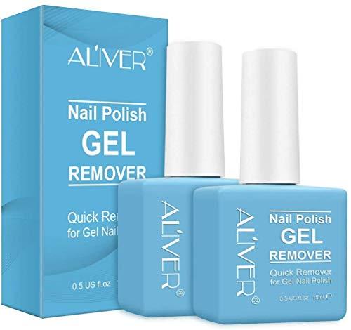 Removedor de esmalte de uñas mágico, elimina rápidamente el esmalte de gel en 3-5 minutos, profesional no irritante removedor de esmalte de uñas 15 ml (2 unidades)