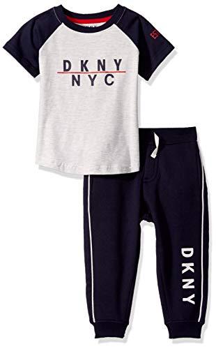 DKNY Boys' Little 2 Piece Set, Grand Central Dress Blues, 5