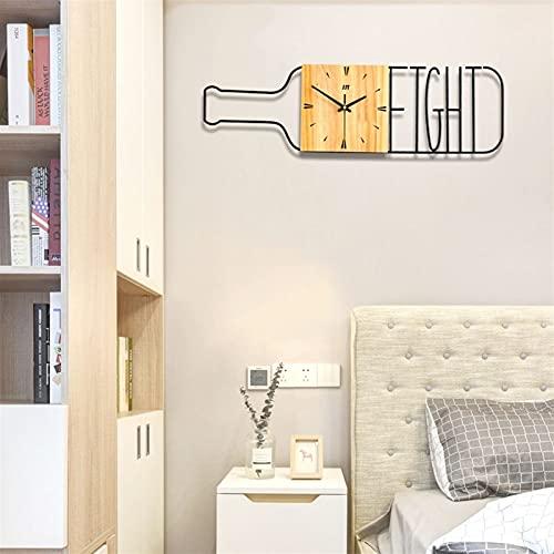 Creativo botella de vino reloj de pared reloj de pared personalidad simple cuarzo reloj moda reloj de metal niños árabe numeral cumpleaños presente porche cafe dormitorio oficina sala de estar casa