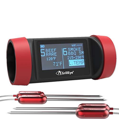 Grilleye Pro+ 8 Port Grillthermometer Set + 2 zusätzliche Temperaturfühler