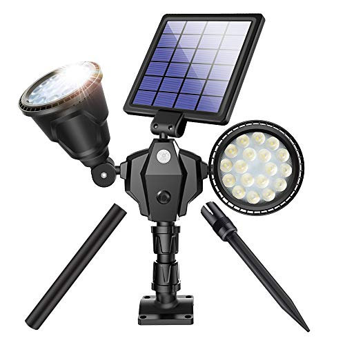 Solar Spot Lights Outdoor 36 LED Landscape Lamps Double Head 1000...