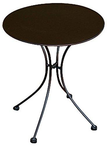 PEGANE Table Rond de Jardin en Fer forgé Coloris Noir - Dim : H 72 x L 60 x Ø 60 cm- A Usage Professionnel