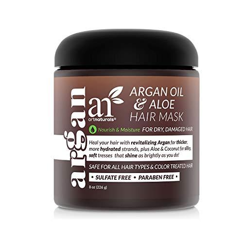 ArtNaturals Argan Hair Mask Conditioner - (8 Oz/226g) - Deep Conditioning Treatment - Organic Jojoba Oil, Aloe Vera & Keratin - Repair Dry, Damaged, Color...