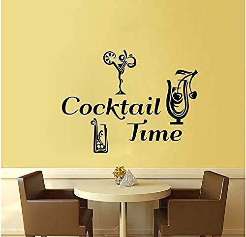 Tiempo de cóctel pegatinas de pared decoración pegatinas de azulejos de cocina a prueba de agua accesorios de decoración del hogar de bricolaje 44x59 cm