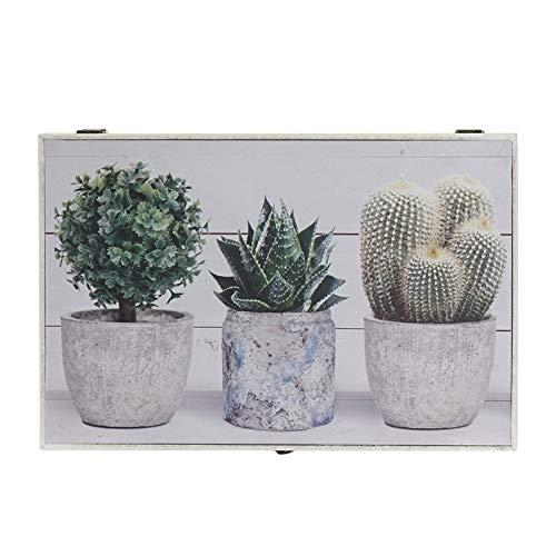 D,casa - Tapa de Contador diseño Lienzo Cactus Verde