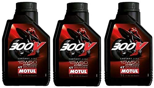 Price comparison product image Motul 300V Factory Line 15W50 Ester Fully Synthetic Engine Oil,  Road Racing,  3 Litres