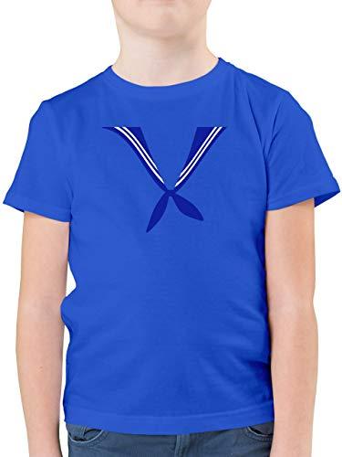 Karneval & Fasching Kinder - Matrose Kostüm Tuch - 104 (3/4 Jahre) - Royalblau - Matrosen Tuch Kinder - F130K - Kinder Tshirts und T-Shirt für Jungen