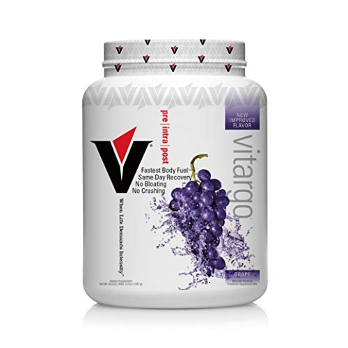 Vitargo Carbohydrate Powder | Feed Muscle Glycogen 2X Faster | 4.4 LB Grape Pre Workout & Post Workout | Carb Supplement for Recovery, Endurance, Gain Muscle Mass