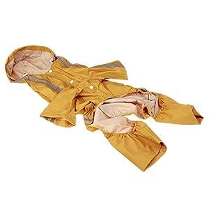 SUPEWOLD New England Chiens de taille moyenne à capuche imperméable Manteau de pluie pour chien Fournitures Dog Vêtements Combinaison