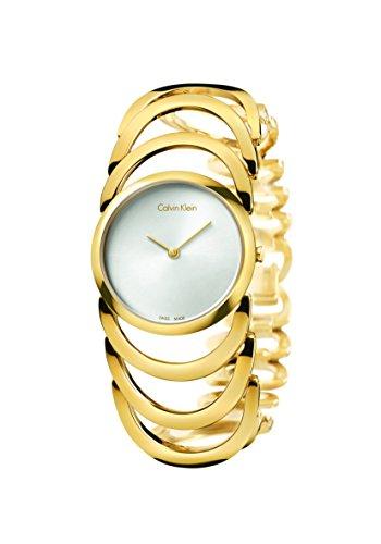 CK K4G23526 - Reloj de Cuarzo para Mujer, Correa de Acero Inoxidable Color Dorado