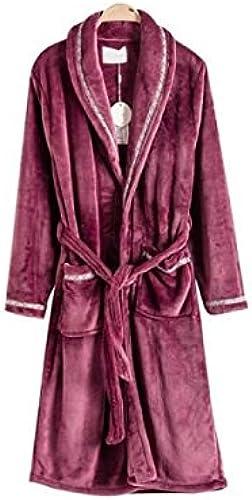 Lepeignoir - Robe de Chambre Polaire Homme Violet Foncé Liseré taille S