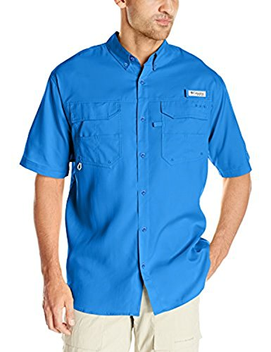 Columbia Sportswear Men's Blood and Guts III Short Sleeve Woven, Vivid Blue, X-Large