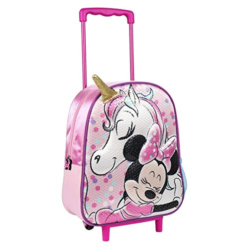 Disney | Minnie Mouse & Unicorn 3D Kids Nursery Bag | Trolley Backpack | Holiday Suitcase | Cabin Hand Luggage | School Bag | The Perfect Gift! |