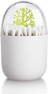 FidgetGear Cotton Swab Holder Organizer, Dustproof Table Decorative Toothpick Cotton Swab Storage Box Plant, Green Tree