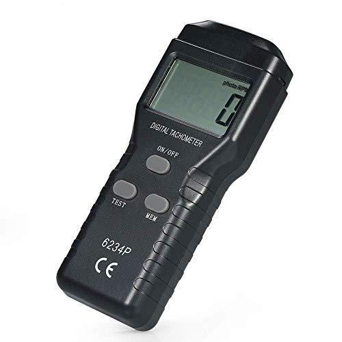 YISUNF Digital Tachometer Digitales Tachometer Drehzahlmesser, No-Contact-Handdigital-Foto Tachometer 2.5~99.999...
