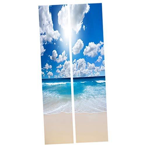 Selbstklebende Kühlschrank Aufkleber Wandbild Türaufkleber Türbilder Home Decor - A