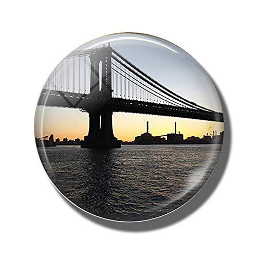 Imán de refrigerador 3 cm Frigorífico de vidrio Imán de recuerdos Viaje decorativo Pegatinas magnéticas Decoración del hogar - Londres Nueva York India Valencia París Imanes Divertidos para Refrigerad