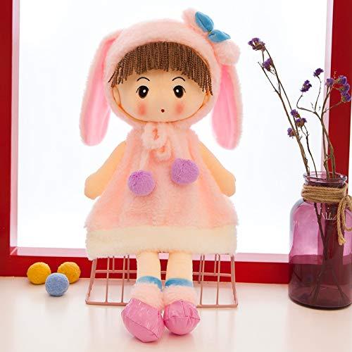 N / A 40cm Niños Princesa Muñeca de Peluche y Peluche Juguetes Oso Conejo Muñeca Niñas Precioso Bebé Muñeca de Peluche Regalos de cumpleaños para niñas 40 cm