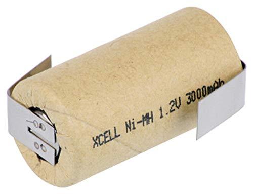 XCell SUB-C Akku Zelle - 3000mAh / 1,2V / NIMH mit Z-Lötfahne - Hochleistungs- Markenzelle in Industriequalität