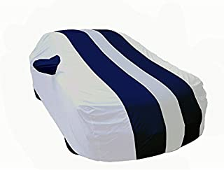 Autofurnish Stylish Stripe Car Body Cover for Regular Sedan Cars (Arc Blue Silver, AF700010-7)