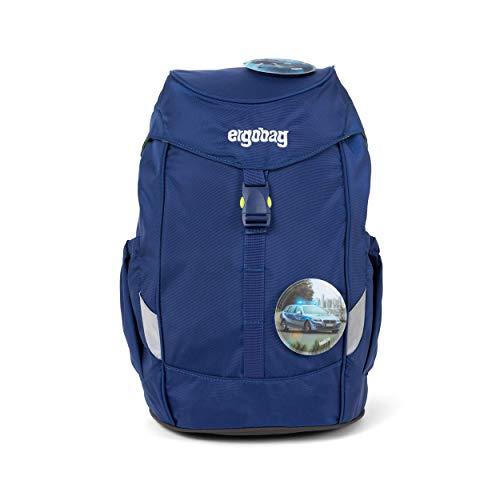 Ergobag Mini BlaulichtBär, ergonomischer Kinderrucksack, Kindergarten Vorschule, DIN A4, 10 Liter, 500 g, Blau
