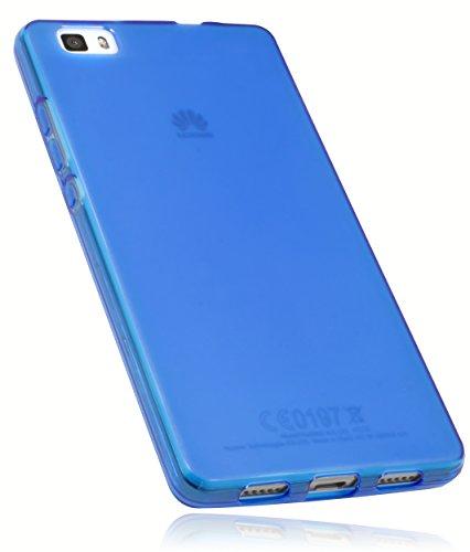 mumbi Funda Compatible con Huawei P8 Lite (2015) Caja del teléfono móvil, Azul Transparente