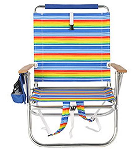 VERDELZ Sillón reclinable de Gran tamaño con portavasos, sillón Plegable de tamaño Extra Grande para Interiores y Exteriores