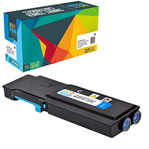 Do it wiser Compatible Toner Cartridge Replacement for Dell C3760 C3760n C3760dn C3765dnf (Cyan)