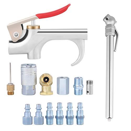 Homeriy 14 piezas compresor de aire herramienta pistola soplar polvo quitar boquilla neumática accesorios kit