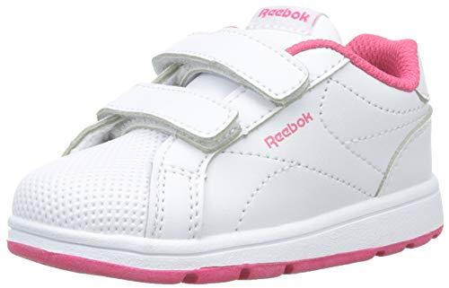 Reebok Royal Comp CLN 2v, Zapatillas de Deporte Niñas, Multicolor (White/Twisted Pink), 20 EU
