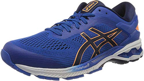 Asics Gel-Kayano 26, Running Shoe Mens, Tuna Blue/White