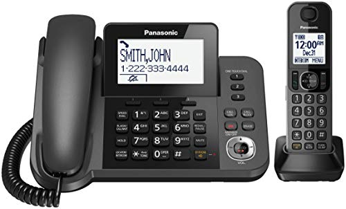 Panasonic KXTGF350 Digital Corded/Cordless Phone System with answering system and 1 handset