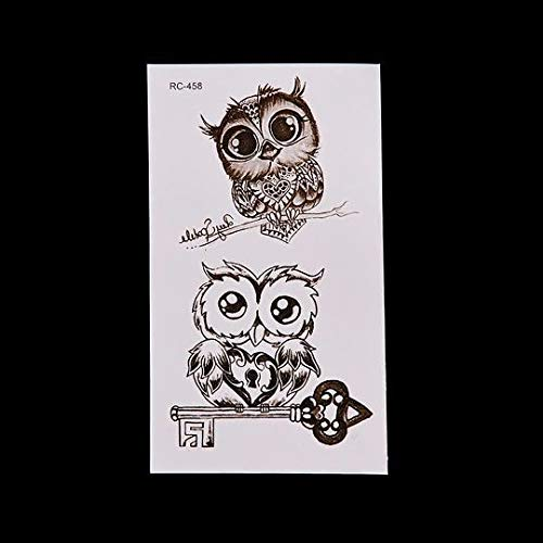 TTBH Owl Temporary Tattoo Stickers Non-Toxic Fast Long Lasting 1 Sheet Cute Waterproof Removable Safe Body Makeup Tattoo Stickers