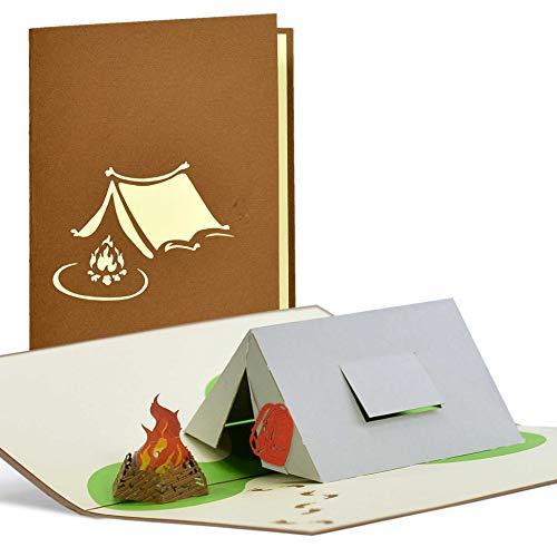 Pop up Geschenkgutschein Camping, Geburtstagskarte, Gutschein zum Zelten, Vatertagsgeschenke, Geschenkideen zum Geburtstag, H21