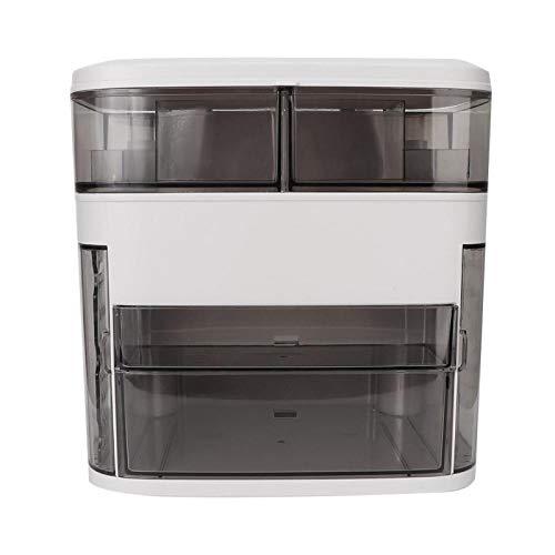 Organizador de lápiz labial, estuche de almacenamiento de cosméticos portátil de escritorio, gran capacidad ajustable para joyería cosmética