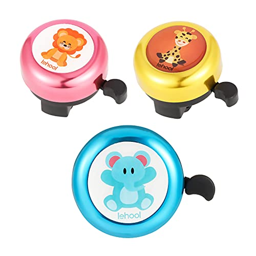 Gaosaili 3 Stücke Kinder Fahrradklingel, Kinderrad Glocke Fahrrad Glocke Runde Mini Klingel für Kinderfahrrad Zubehör