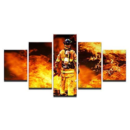 ChuangYing Modern Art Home Spritzlackierung Wandtattoo HD Feuer Krieger speichern Firewall Aufkleber