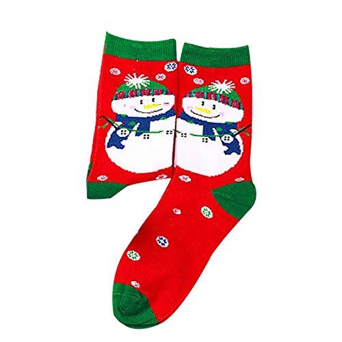 QZXCD Kerstkous sokken vrouwen mannen kerstsokken comfortabele strepen katoenen sokken korte sokken vrouwen winter vrouw sok 1 para G