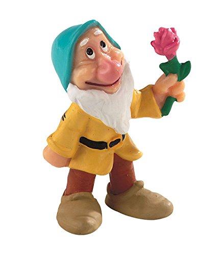 Bullyland 12480 - Spielfigur, Walt Disney Schneewittchen, Zwerg Pimpel, ca. 5,5 cm groß, liebevoll handbemalte Figur, PVC-frei, tolles Geschenk für Jungen und Mädchen zum fantasievollen Spielen