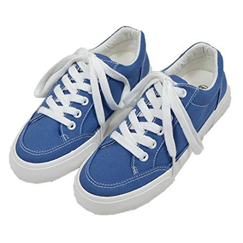 Zapatos De Lona Casuales para Mujer Zapatillas con Cordones Zapatillas Bajas Transpirables Zapatillas De Correr para Correr Alpargatas De Plataforma Cómodas