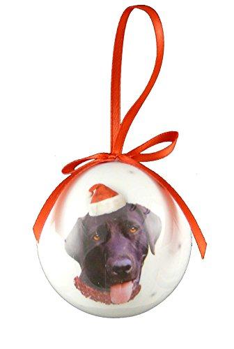 Christmas Direct-Palla per albero di Natale con animali, cane Labrador, colore: nero, Dimensioni: 5 cm ((2') 5,08 cm)