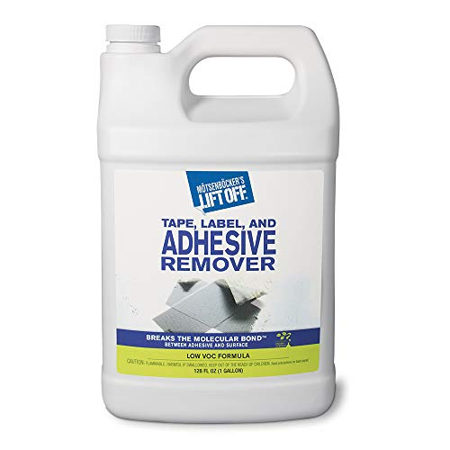 Motsenbocker's Lift Off 40801 128-Ounce Tape, Label, and Adhesive Remover Safely Removes Stickers, Glue, Decals, Sticky Residues and More from Vehicles, Furniture, Tile, Wood, and More